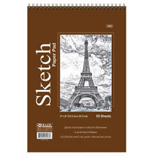 5 PC 50 Sheets 6x8 Top Bound Spiral Premium Quality Sketch Book Paper Pad Draw