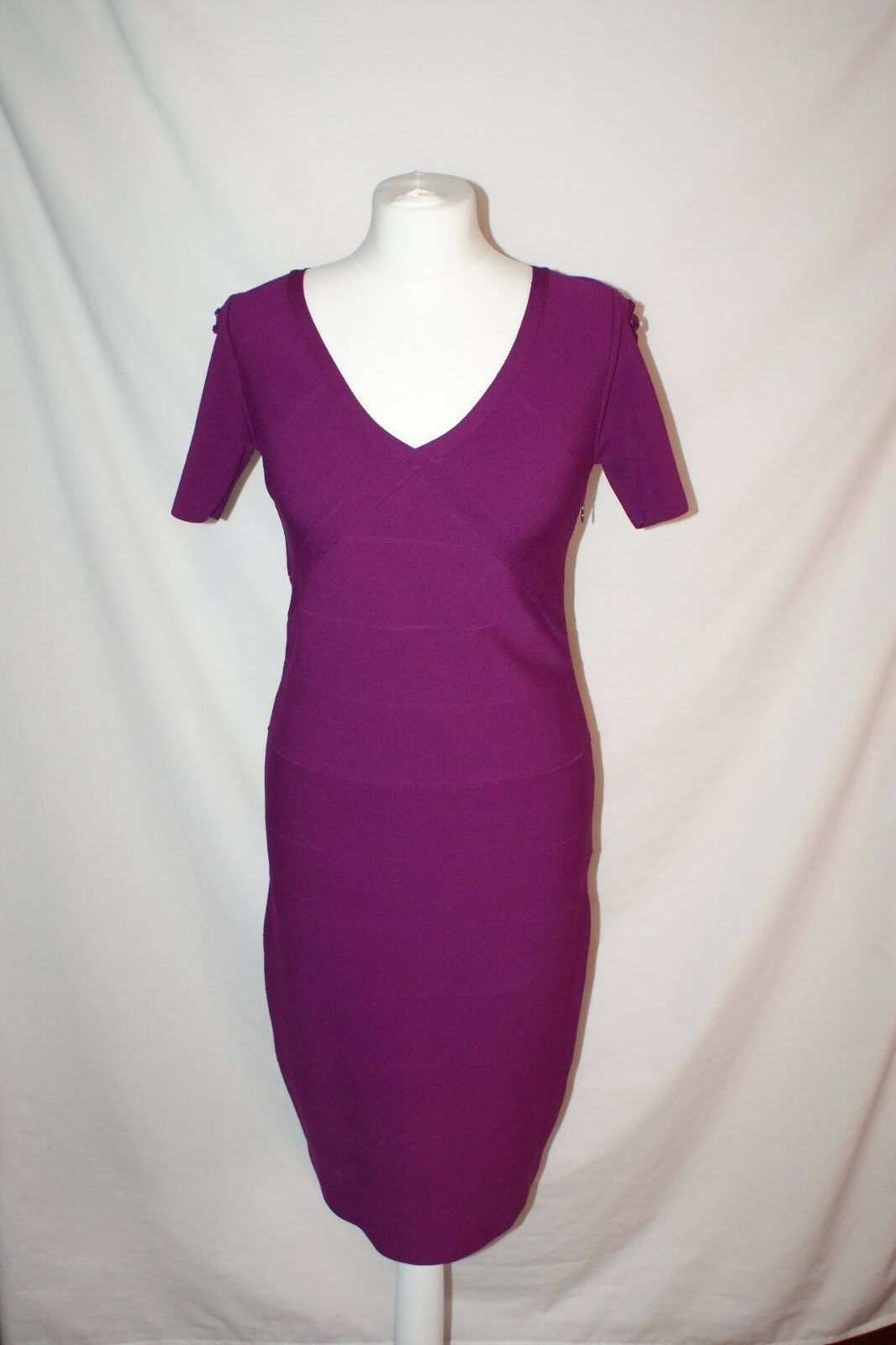 BNWT REISS Rouge Violet Violet Fuchsia Robe Moulante Taille M