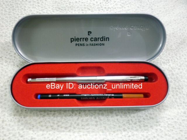 Pierre Cardin Paris Kriss Bright Chrome Roller Ball Pen Ballpen - Brand New