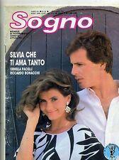 SOGNO # Mensile di Fotoromanzi - Anno XLI - N.61 # Ottobre 1987 Ed. Lancio