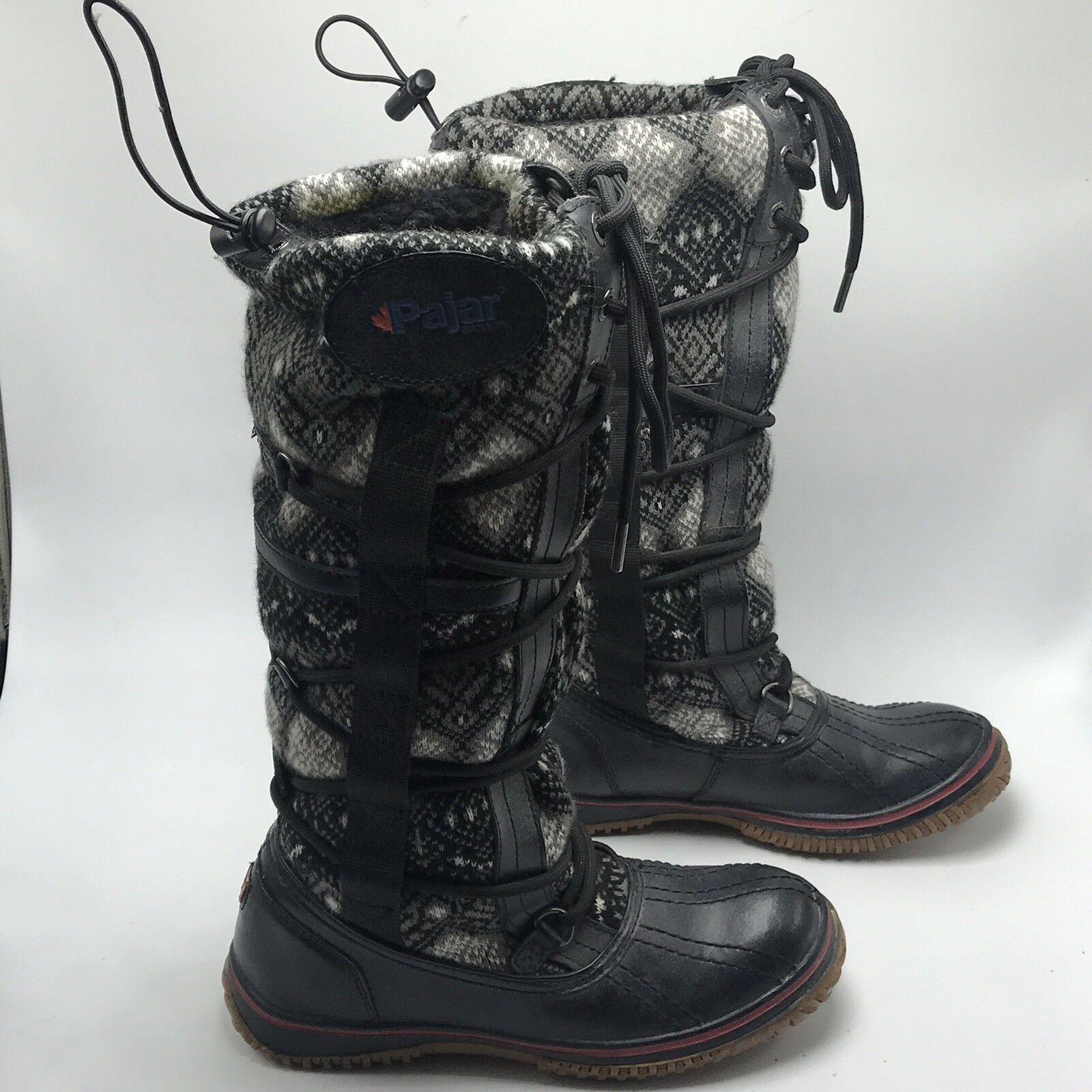 Pajar Winter Regatta Lace Up stivali Sz 37 US 6 6.5 Waterproof Lined