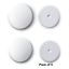 Prym White Plastic Self Cover Buttons High Quality Size 22mm Pack of 5//10//20