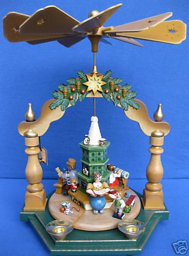 Hubrig Pyramide 35cm Großmutters Weihnachtsstube + Kerzen Erzgebirge Neu