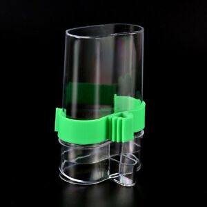 Acrylic-Automatic-Pet-Bird-Cage-Water-Food-Feeder-Parrot-Cockatiel-Canary-YI2Z