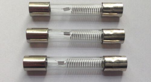 3x fusibile per microonde 5kv 0,8a 800ma ad alta tensione backup HV 5000v fuse