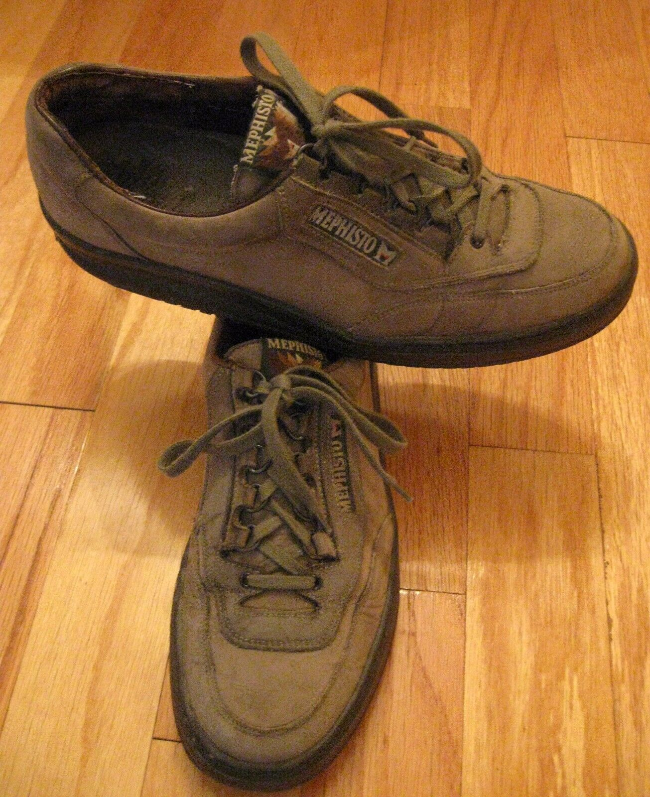 MEPHISTO RUNOFF MEN'S OLIVE NUBUCK WALKING OXFORDS SIZE 11 N MADE IN FRANCE
