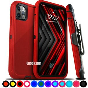 For iPhone 12 Mini 11 11 Pro Max Shockproof  Rugged Cover Case with Belt Clip