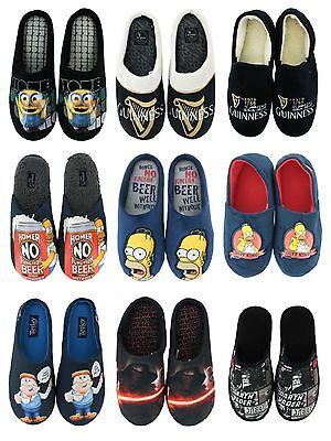 Para Hombre Oficial Novedad Cordones Casuales Plana Cálido Zapatillas Mulas UK Size 7-12