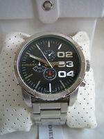Diesel Watch Double Down 51 Dz 4209 Stainless Steel Chronograph Bnib