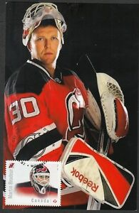 CANADA # 2872.2 MARTIN BRODEUR HOCKEY STAMP on MAXIMUM (POST) CARD, ONLY 8 MADE