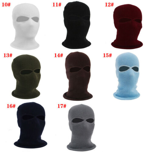 Details about  /2//3 Hole Men Women Full Face Head Cover Ski Cap Balaclava Hat Windproof 07UK