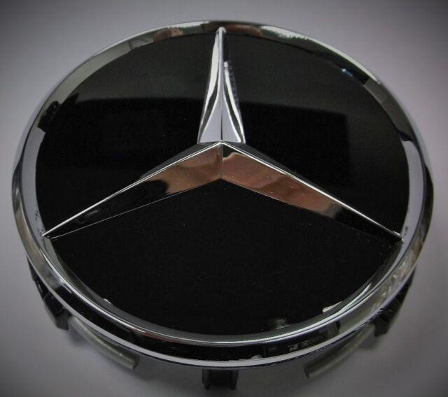 New Genuine Mercedes-Benz Alloy Wheel Centre AMG Hub Cap Chrome/Black 70200