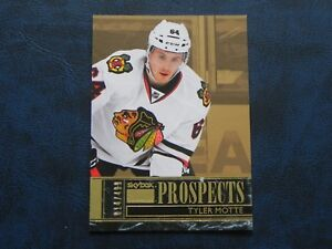 2016-17-Fleer-Showcase-Skybox-Premium-S16-Tyler-Motte-Chicago-Blackhawks-499