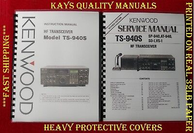 "Kenwood TS-940S Service /& Instruction Manuals; w// 11/""X17/"" Color Schematics!"