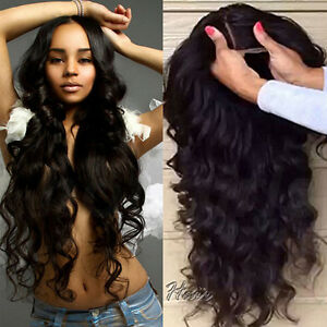 Real-Brazilian-Virgin-Human-Hair-Full-Front-Lace-Wigs-Natural-Black-Wave-Curly
