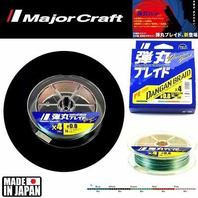 Major Craft X 4 Braid Line Dangan Blade 300M//Multi Color