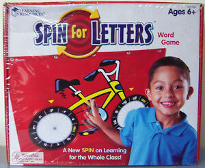 NIB Learning Resources SPIN FOR LETTERS Wheel GAME LER 1334 word building skills