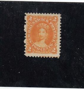 NEW-BRUNSWICK-MK4608-7-FVF-MNG-2cts-1863-VICTORIA-ORANGE-CAT-VALUE-20