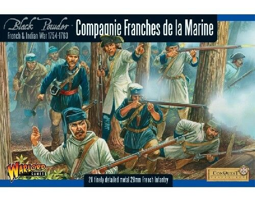 Compagnie Franches de la Marine-Warlord Games-schwarz pulverbeschichtet geschickt 1st Class