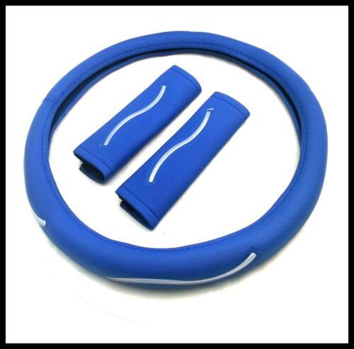 1x ø 37-39 cm Volant Référence cuir synthétique bleu volant Coque avec Gurtpolster Universel