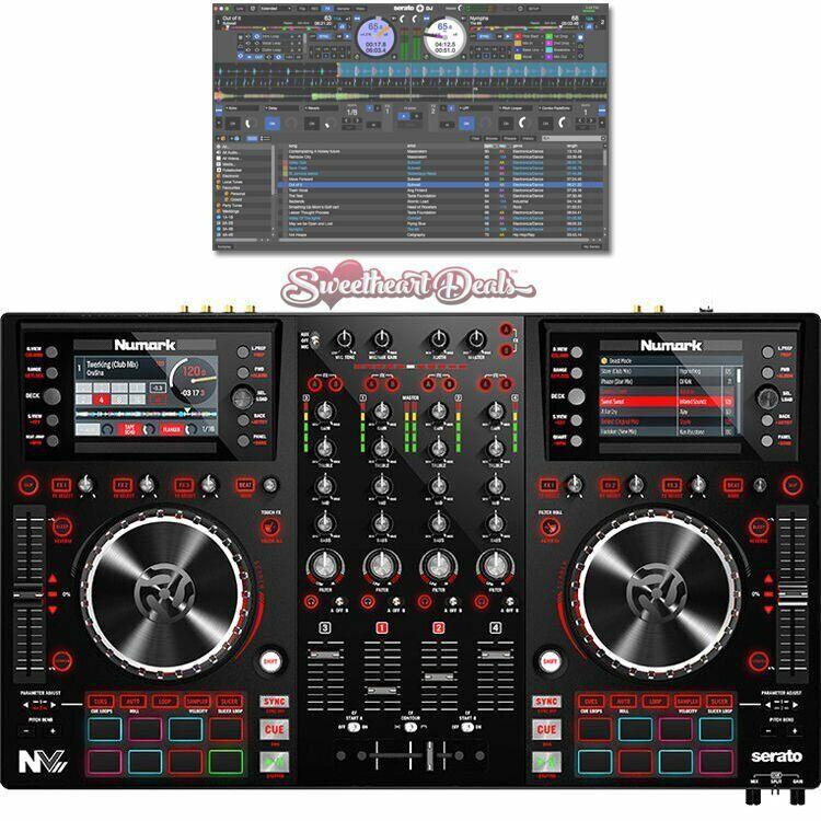 Numark NVII - Intelligenter Dual-Display DJ Controller mit Serato Software