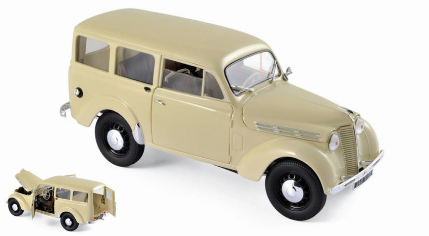 RENAULT JUVAQUATRE BREAK 300 Kg 1951 Ivory 1 18 Model NOREV