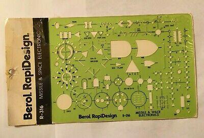 Berol Rapidesign Template R-17 Mathematical Symbols