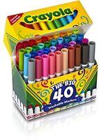 Crayola Washable Markers, School Supplies Arts Crafts Design Pens 40-piece on sale