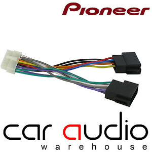 pioneer 14 pin iso head unit replacement car stereo wiring harness image is loading pioneer 14 pin iso head unit replacement car
