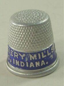 1930s Real Silk Hosiery Mills Advertising Aluminum Thimble Indianapolis Indiana
