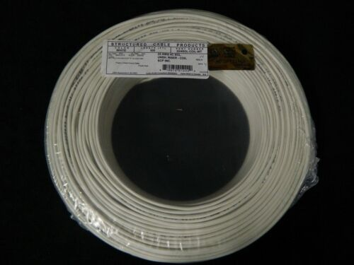 22 GAUGE 4 CONDUCTOR 50 FT WHITE ALARM WIRE SOLID COPPER HOME SECURITY CABLE