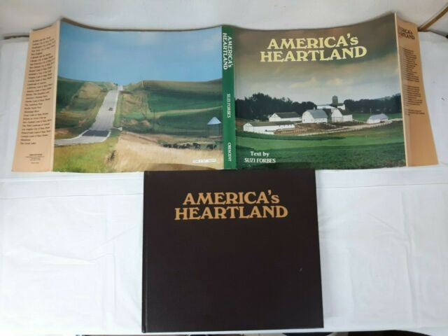 1985 AMERICA's HEARTLAND by Suzi Forbes BIG Hardcover Picture Book 1st Print