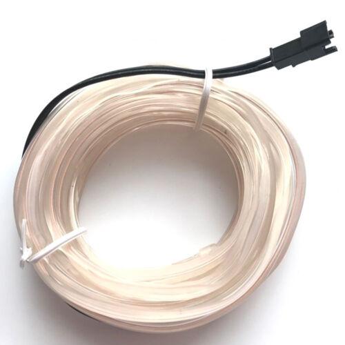 Car Interior Light Strip 12V Neon Glowing EL Wire Cable for Car Door//Console