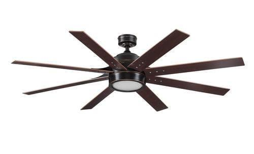 8 Blade 62  Bronze LED Indoor Ceiling Fan with Light Kit - Reversible Blades