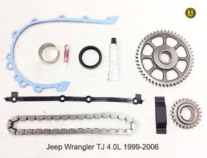Fuer-Jeep-Wrangler-Tj-4-0L-Steuerkette-amp-Dichtung-Satz-1999-2006