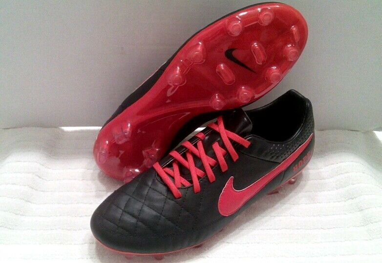 Great discount NIKE TIEMPO LEGACY ID Customize Soccer Cleats HOPE BLACK & RED Price reduction