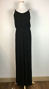 Lush-Women-039-s-Spaghetti-Strap-Long-Black-Classic-Summer-Maxi-Dress-Size-Medium