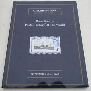 Details about RARE STAMPS POSTAL HISTORY of the WORLD 2017 CHERRYSTONE  AUCTION CATALOG