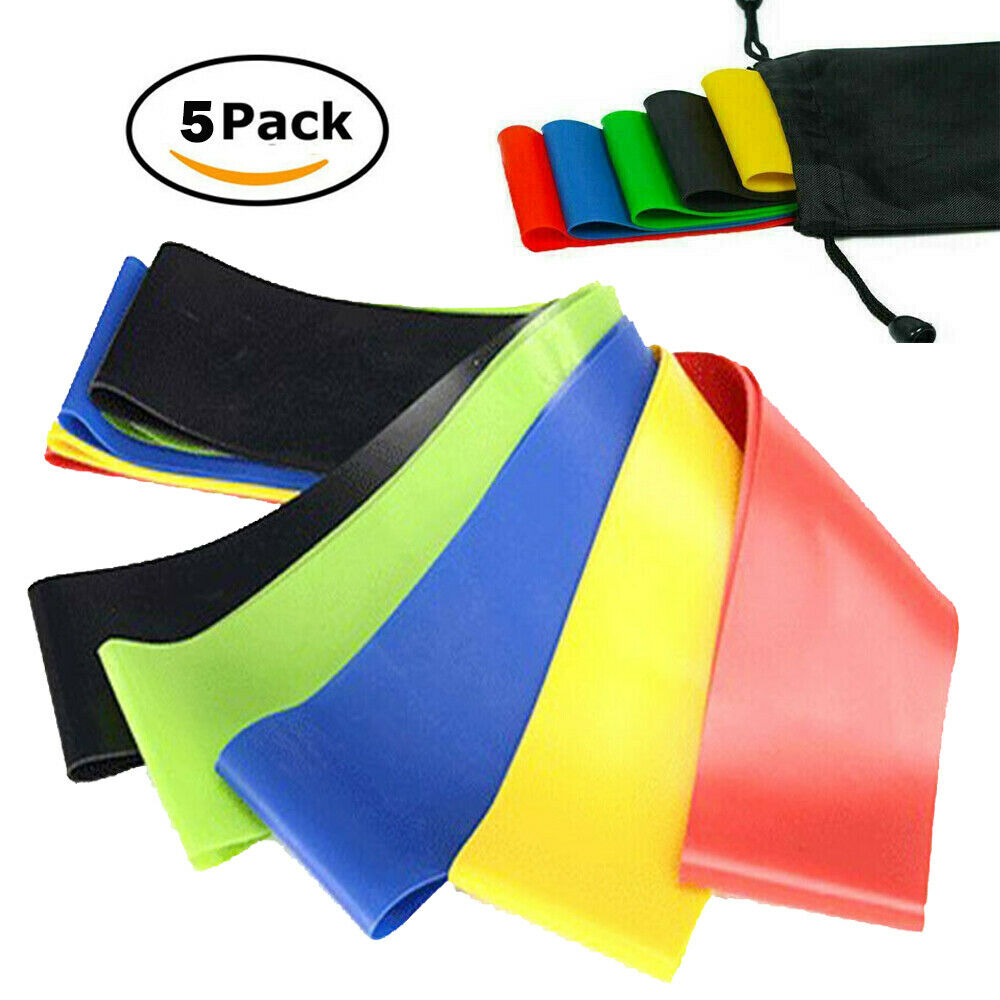 Elastic Stretch Yoga Strap Resistance Band Fitness Exercise Workout Belt 2Colors