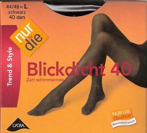 nur die blickdicht 40 strumpfhose gr s m schwarz ebay. Black Bedroom Furniture Sets. Home Design Ideas