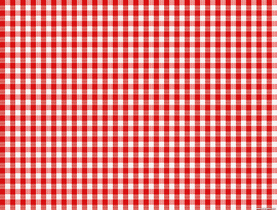 A4 Red and White Check Effect Tablecloth Edible Icing Sheet