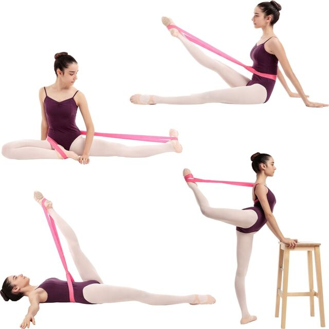 Pink Ballet Stretch Band Dance Cheer Gymnastics Flexibility Stretching Rehab
