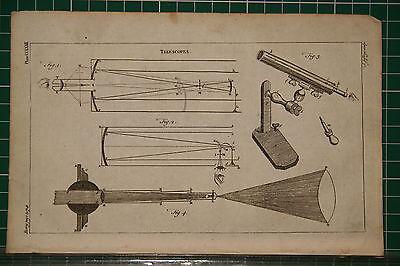 1764 Antiguo Estampado ~ Telescópicos Varios Equipamiento Apparatus Precio Bajo