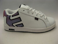 Etnies Girls Youth Fader White Leather Sneakers Shoes 5 Fuchsia Sparkle Kids
