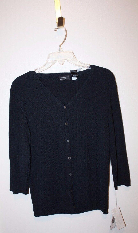 Liz Claiborne Collection Women's Sweatshirt bluee color Size Large