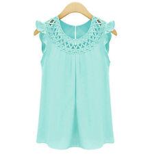 Fashion Women Summer Casual Chiffon Sleeveless Shirt Vest Tank Tops Loose Blouse