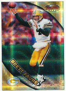 1997-Brett-Favre-Bowman-039-s-Best-Atomic-Refractor-1-RARE-SP-Green-Bay-Packers-NFL