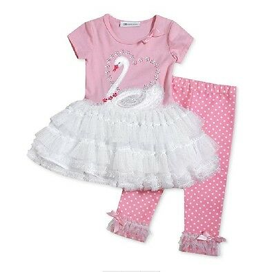 Bonnie Jean Little Girls Ruffle Mesh Legging Set