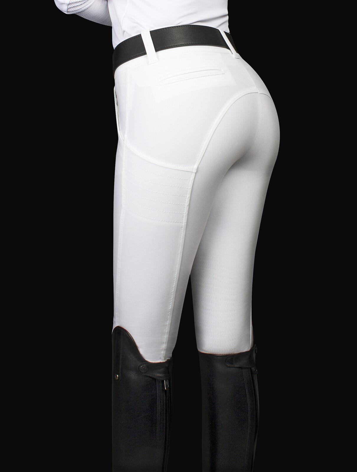 Equiline X-Shape Reithose Eleonor weiß weiß Eleonor mit Shape-Up Effekt Full Grip 37f795
