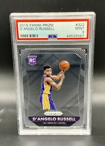 ❤️D'Angelo Russell 2015 Panini Prizm Rookie RC Base #322 PSA 9❤️
